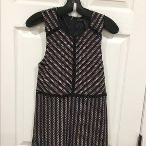 BCBGMaxazria Dark Navy striped dress Size XS